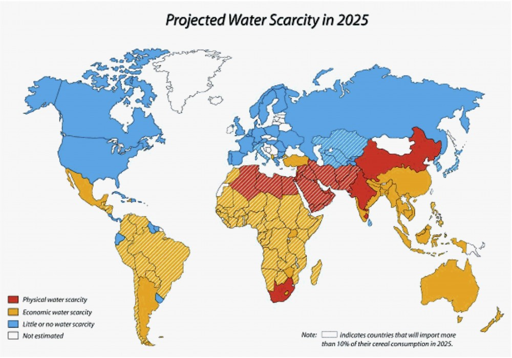 Water scarcity in 2025