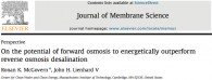 Efficiency of forward osmosis desalination by McGovern et. al. 2014