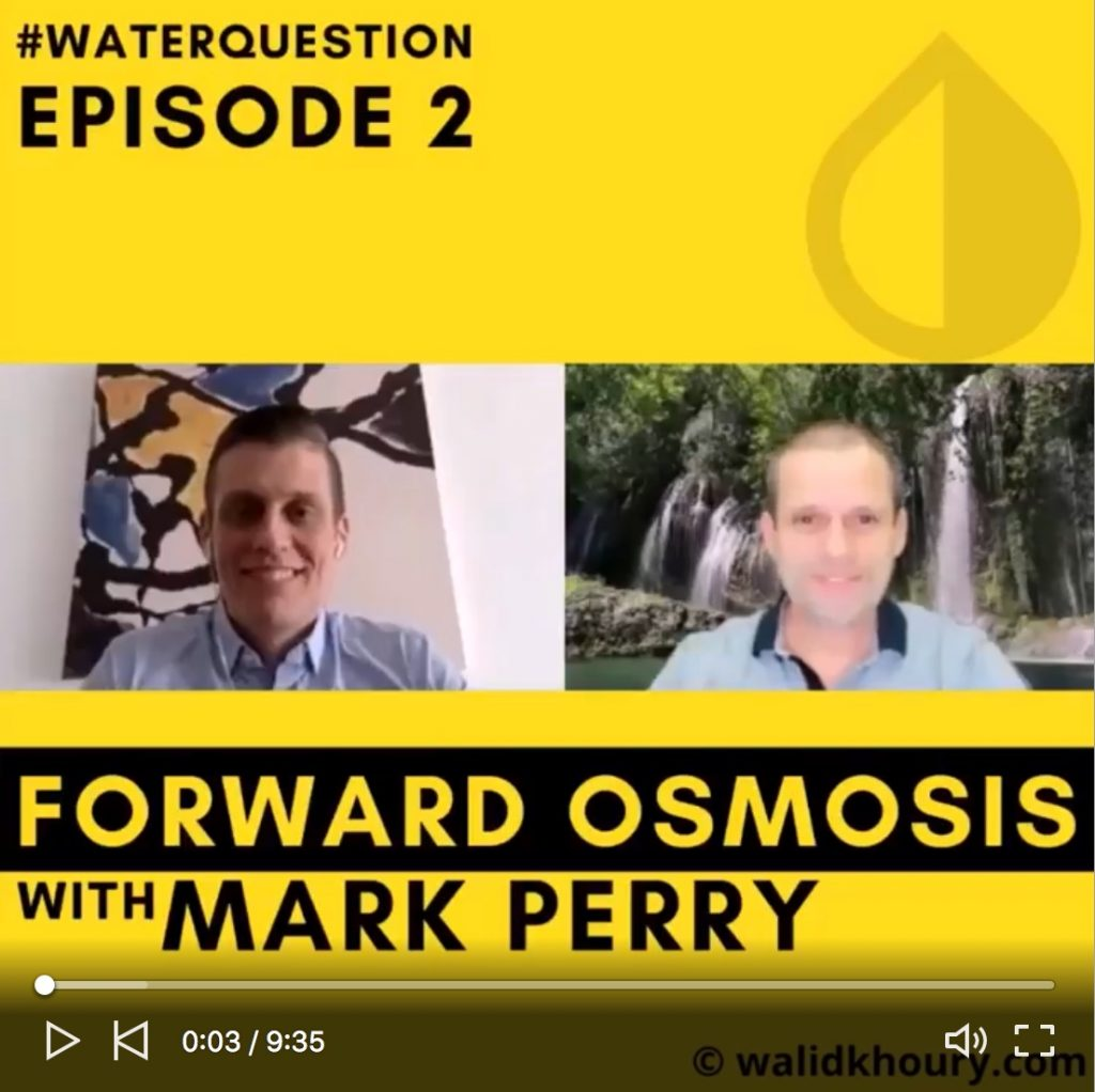 Interview with Walid Khoury about forward osmosis