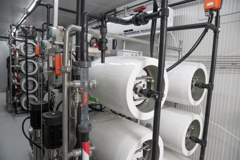 Osmotically assisted reverse osmosis from Hyrec
